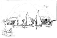 fundraising art - sailboat - katie dobson cundiff